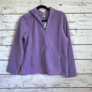 L.L. Bean Purple NWT Soft Zip Up Jacket